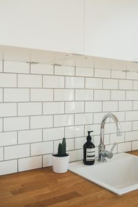 grout sealing in kitchen